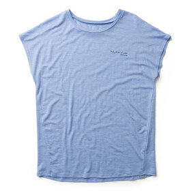 Houdini Activist Message T-shirt Femme, boost blue